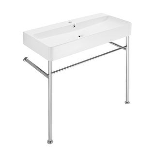 Link to Carre Ceramic Console Sink White Basin Chrome Legs Similar Items in Sinks