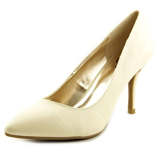 143 Girl Owanda Women Pointed Toe Synthetic Ivory Heels