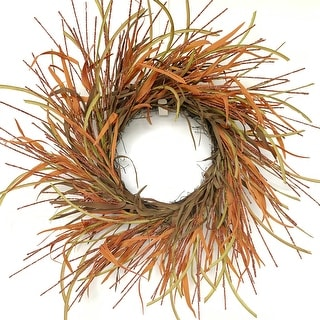 "Glitzhome 26""D Tail Berry Harvest Wreath"