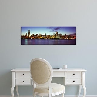 Easy Art Prints Panoramic Images's 'Buildings at waterfront, Lake Michigan, Chicago, Cook County, Illinois' Canvas Art