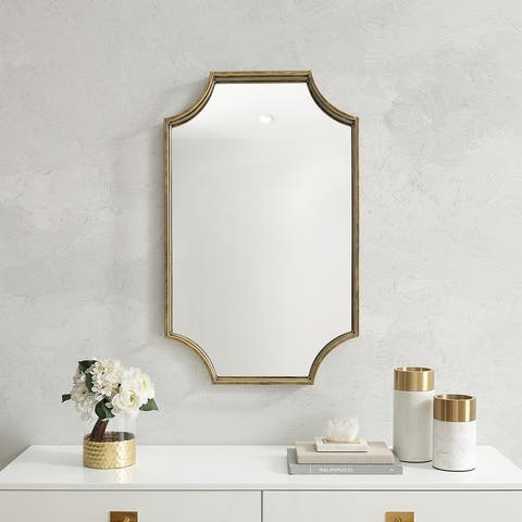 Silver Orchid Notched Corner Metal Frame Mirror