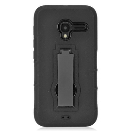 Insten Symbiosis Dual Layer Hybrid Stand Rubber Silicone/ PC Case Cover For Alcatel One Touch Pixi 3 4.5-inch