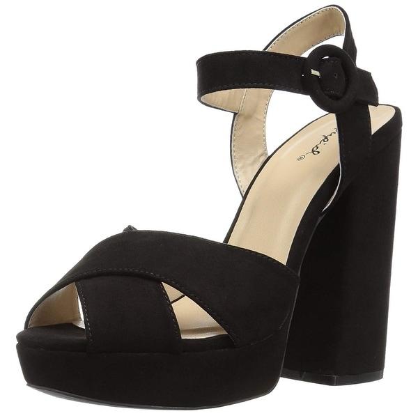 Qupid Women's Alisha-01 Heeled Sandal