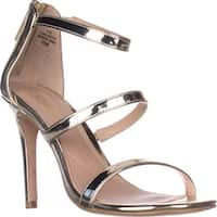 Charles Charles David Ria Strappy Heeled Sandals, Gold Speccio