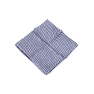 Brunello Cucinelli Purple Grey Check Pure Wool Pocket Square