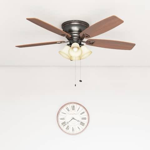 Honeywell Glen Alden 4-light Oil Rubbed Bronze Hugger Ceiling Fan