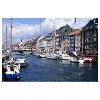 """Boats in Copenhagen, Denmark"" Poster Print"