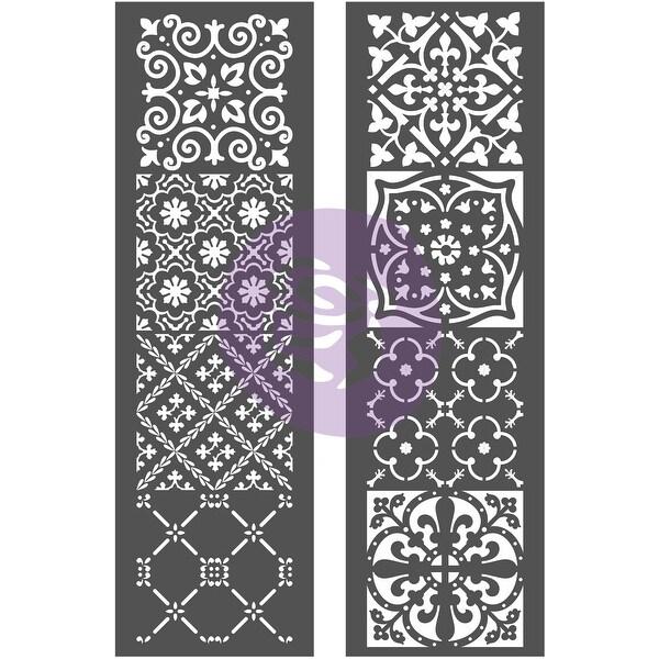"""Prima Re-Design Decor Stencil 2/Pkg 8""""X26.375""""-Arabesque"""