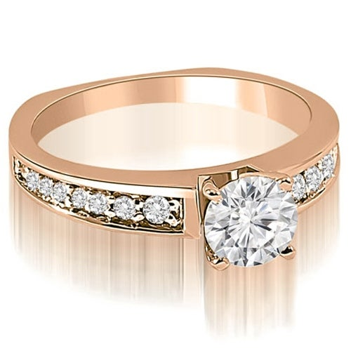 0.75 cttw. 14K Rose Gold Round Cut Diamond Engagement Ring