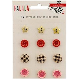 Fa La La Buttons 12/Pkg-