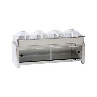 BroilKing MLB-CSLP4 Professional Warming Cabinet w/ Family Size Buffet Server - 4 1/3 size pans and 4 1/3 size lids