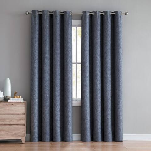 Jerome Textured Room Darkening Curtain Panels