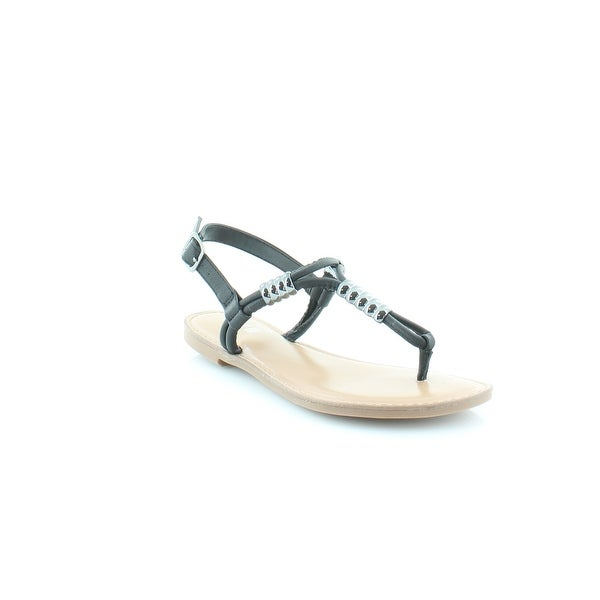 Bar III Vortex Women's Sandals & Flip Flops Black - 5