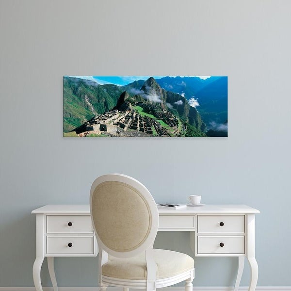 Easy Art Prints Panoramic Images's 'View of ruins of ancient buildings, Inca Ruins, Machu Picchu, Peru' Canvas Art