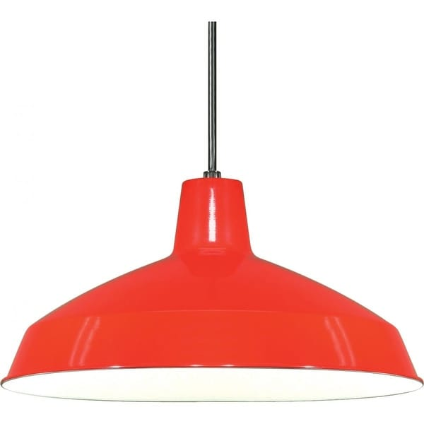 "Nuvo Lighting 76/663 Single Light 16"" Pendant with Warehouse Shade - Red"