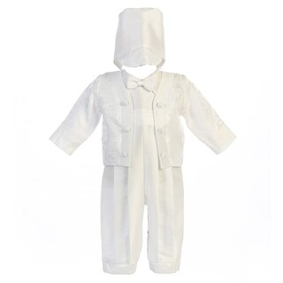 Baby Boys White Bow Tie Jacket Romper Hat Anthony Christening Outfit