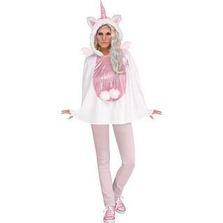 Adult Unicorn Hooded Poncho Costume size 4-14 - standard - one size