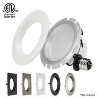 1PACK/4PACK Torchstar Trim Interchangeable Dimmable Recessed LED Downlight,4 Inch 10W,2700K Soft White/5000K Daylight