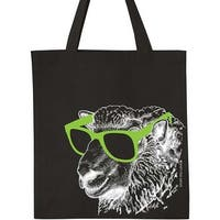"Cool Sheep - Black - K1c2 Knit Happy Tote 14""X15""X4"""