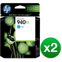 HP 940XL High Yield Cyan Original Ink Cartridge (C4907AN) (2-Pack)