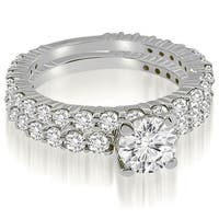 2.05 cttw. 14K White Gold Round Cut Diamond Bridal Set