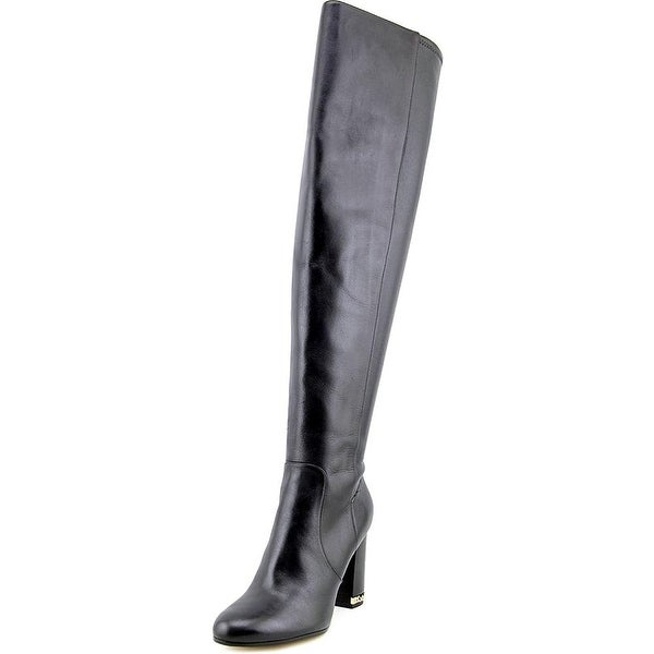 MICHAEL Michael Kors Womens Sabrina Leather Closed Toe Over Knee Fashion Boots
