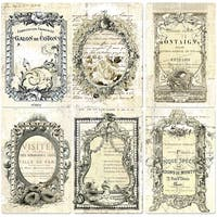 "Iron Orchid Designs Everyday Vintage Paintables Cards-Nostalgic Reflections 4""X6"", 12/Pkg"