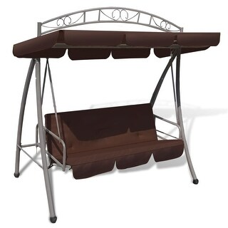 vidaXL Outdoor Swing Chair / Bed Canopy Patterned Arch Coffee