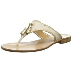 Jack Rogers Women's Alana Dress Sandal,Bone/Gold,10 M US