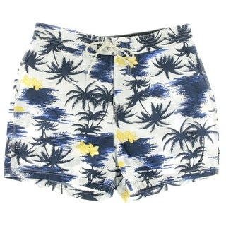 Nautica Mens Floral Print Quick Dry Swim Trunks