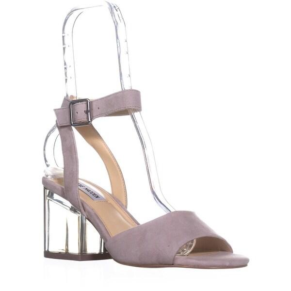 Steve Madden Debbie Heeled Sandals, Grey Suede - 8 us