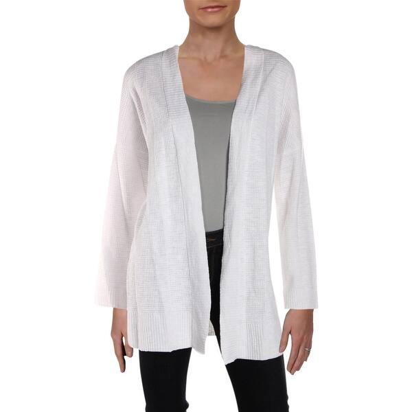 537bd57ee122b2 Shop Eileen Fisher Womens Cardigan Sweater Linen Open Front - L ...