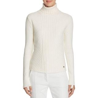 Tory Burch Womens Inez Turtleneck Sweater Stretch Lined - s
