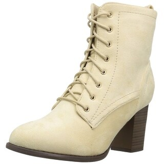 Journee Collection Womens baylor Fabric Almond Toe Ankle Fashion Boots