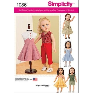 Simplicity 18 Doll Clothes-One Size