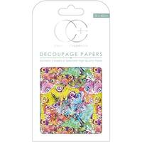 "Craft Consortium Decoupage Papers 13.75""X15.75"" 3/Pkg-Kaleidoscope"