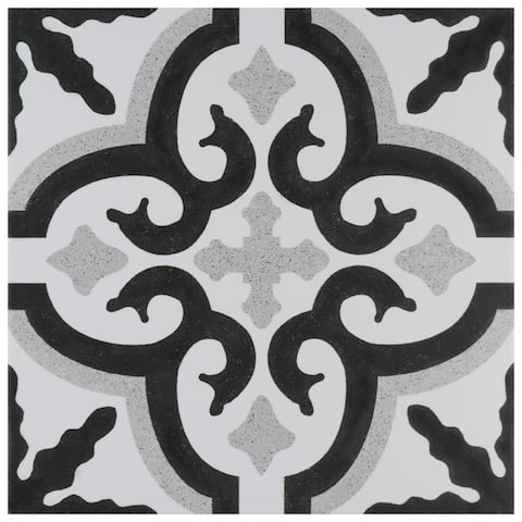 SomerTile 9.75x9.75-inch Pera Porcelain Floor and Wall Tile (16 tiles/11.11 sqft.)