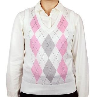 Ladies Argyle Sweater Vest|https://ak1.ostkcdn.com/images/products/is/images/direct/2240062966bc9fdf3fcdd7d51cef98e0936fd7e6/Ladies-Argyle-Sweater-Vest.jpg?impolicy=medium