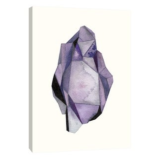 """PTM Images 9-105707  PTM Canvas Collection 10"""" x 8"""" - """"Faceted Gem Violet"""" Giclee Abstract Art Print on Canvas"""