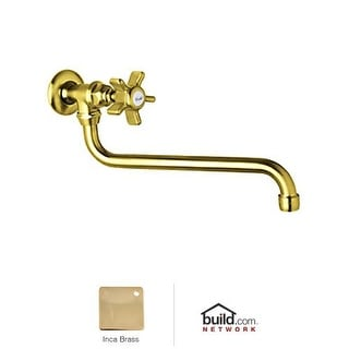 Rohl A1444X-2 Country Kitchen Wall Mounted Pot Filler Faucet with Five Spoke Cro