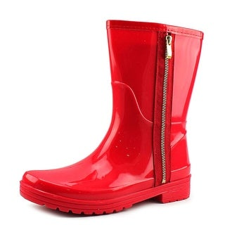 Unlisted Kenneth Cole Rain Zip 2 Women  Round Toe Synthetic Red Rain Boot