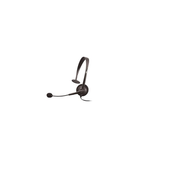 Cyber Acoustics AC-100 Mono Speech Headset Boom Mic 3.5MM Plug - 7x6x1