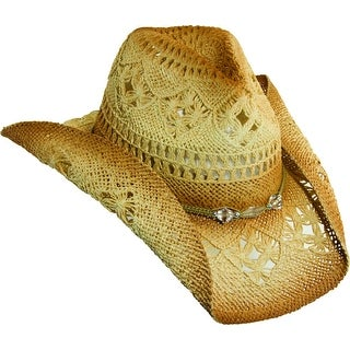 Dorfman Pacific Women's Toyo Straw Western Cowboy Hat - Natural - One Size