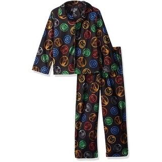 Marvel Boys 4-10 Avengers Coat Pajama Set - Black