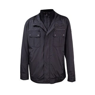 MICHAEL Michael Kors Men's Big and Tall Oxford Hipster Jacket (2XT, Black) - Black - 2xt