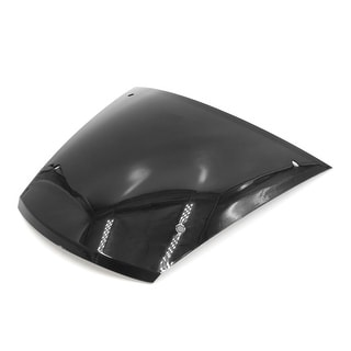 23 X 21 X 0 4cm Black ABS Plastic Motorcycle Windscreen Windshield For WH100