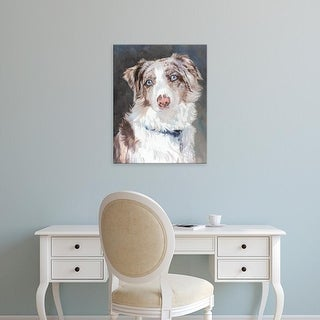 Easy Art Prints Edie Fagan's 'Bogan Australian Shepherd' Premium Canvas Art