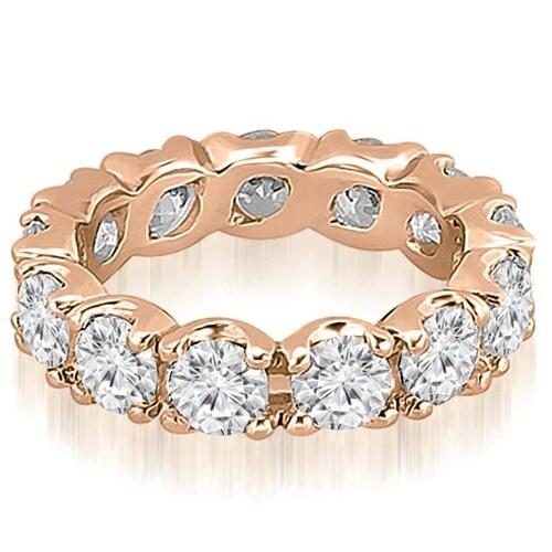 14K Rose Gold 4.55 cttw. Round Diamond Eternity Ring HI,SI1-2