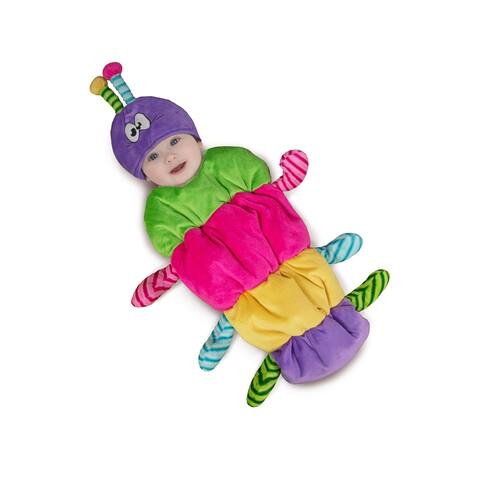 Newborn Swaddle Rainbow Caterpillar Costume size 0-3 Months - 0-3 Months