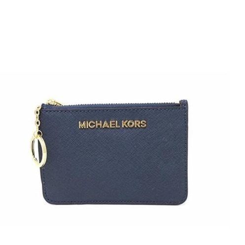 e30e2df6e831 Shop Michael Kors Saffiano Leather Jet Set Small TZ Coin Pouch Card Case  with ID Window - Free Shipping Today - Overstock - 18851857